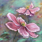Pink Ladies - Japanese Anemones
